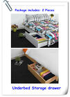 GreenForest Underbed Drawers Solid Wood Pine Bed Storage Boxes with Wheels, 2Pcs