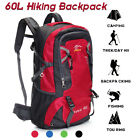 60L Waterproof Outdoor Sports Hiking Trekking Bag Camping Travel Large Backpack
