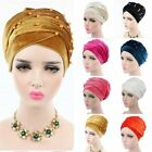 Women luxury beaded pearled velvet long head wrap turban hijab head scarf