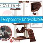Cat Scratching Post Tree House Scratcher Poles Multi Level Hammock 150cm Brown