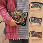 Vintage Women Embroidered Ethnic Style Bag Lady Wristlet Clutch Handbag Wallet