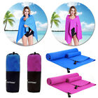 2 Camping Travel Swimming Microfiber Towel for Beach Bath Absorbent Quick Drying image