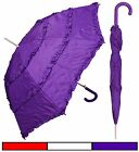 "48"" Parasol Style 3-Ruffle Auto-Open Umbrella - RainStoppers Rain/Sun UV Costume"