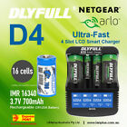 Netgear Arlo Camera Rechargeable Battery CR123a & Charger Kit by X4 batter Charg