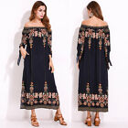 Plus Size 8-26 Women Boho Floral Maxi Dress Party Cocktail Summer Beach Sundress