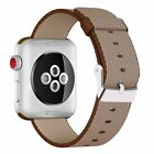 Woven Nylon Replacement Band with Stainless Steel Buckle for Apple Watch 1/2/3/4