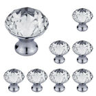Handle With Screw Clear Crystal Glass Door Knobs Drawer Cupboard Cabinet Wardrob