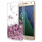 For Moto E6 E5 Z4 G7 Plus G6 Play G7 Power Liquid Glitter Quicksa TPU Case Cover