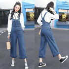 Women Casual Denim Blue Jumpsuit Playsuit Suspenders Pants Overall Dungarees