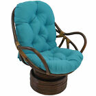 Bungalow Rose Benahid Outdoor Rattan Swivel Chair with Cushion