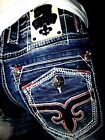 NWT New Mens Rock Revival Straight Jeans Leotis 29 30 31 32 38 40 42 Long