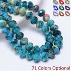 Exquisite 6x8mm Rondelles Crystal Beads For Jewelry Making DIY Bracelet Necklace