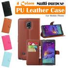 Samsung Galaxy Note 4 / SM-N910 Leather Case PSC Cover Skin Wallet Stand Folio