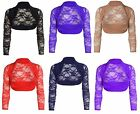 DIVADAMES Ladies LACE  Bolero Shrug Women Cropped Stretchy Top Cardigan