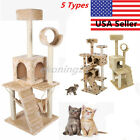 "36""/52"" Cat Tree Tower Condo Furniture Scratch Post Kitty Pet House Play House K"