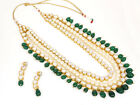 Indian Ethnic Kundan Rani Long Haar Necklace Earring Set Polki Bollywood Jewelry