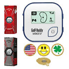 Blue GolfBuddy Voice 2 Golf GPS/Rangefinder+Callaway Chrome Soft/X + Ball Marker