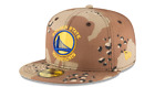 Golden State Warriors New Era Cap NBA Perforated Camo 59Fifty Fitted Hat - Sand