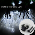 20 Led Solar String Lights Small Bell Garden Christmas Waterproof Outdoor White