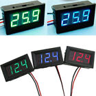 Voltage Display DC Meter 3-Digital Mini Voltmeter Wires LED 0-30V  Panel Tester