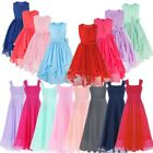 Kid Flower Girl Princess Dress Wedding Pageant Bridesmaid Formal Party Prom Gown