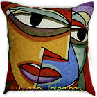 Dual Face Picasso Throw Pillow Contemporary Colour Modern Abstrat Art Cushions