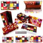 LADIES NEW MULTICOLOURED REAL LEATHER PATENT PATCH DESIGN WALLET PURSE