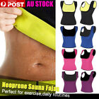 AU HOT Sweat Body Shaper Corset Slimming Waist Cincher Shapewear Sauna Vest Top