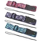 Guitar Strap Floral Print Flowers Pattern Adjustable For Electric Acoustic Bass