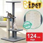 Cat Scratching Multi Level Post Tree Scratcher Pole Furniture House Toy 124cm