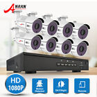 ANRAN 8CH/4CH 1080p HD POE NVR System 2.0MP Outdoor CCTV Surveillance Camera Kit
