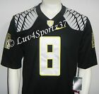 OREGON DUCKS Black NIKE Limited Sewn Stitched JERSEY #8 Mariota MEN S M L XL