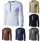 Fashion Mens Muscle Shirts Slim Fit Long Sleeve Casual T-Shirt solid Tee Tops