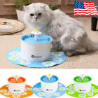 automatic cat water fountain - HOMMII AUTOMATIC CAT DOG WATER DRINKING FLOWER FOUNTAIN PET BOWL DRINK DISH 1.6L