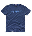 Triumph Motorcycles Men's Navy Blue Modern Logo T-Shirt MTSS15005 $35.0 USD