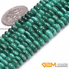 Natural Grade AAA Malachite Gemstone Rondelle Spacer Beads For Jewelry Making