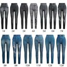 Women Skinny Pants Jeggings Stretchy Leggings Jeans Pencil Tight Trousers G2L3