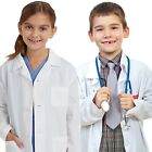 Kids Medical Doctor Lab Coats Long White Jacket for Childrens Child Girls Boys