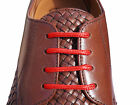 New Red Coloured Thin Shoelaces 70cm Long For Mens Coloured Sole Shoes, Brogues