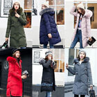 Winter Women's long Down Cotton Parka Fur Collar Hooded Coat Quilted Jacket New