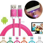 1 M Braided Micro USB LED Lightning Charge Date Cable For Android Mobile N98B