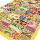 """20 X 40"""" Yellow Embroidered Decorative Wall Hanging Tapestry Indian Bohemian Boh"""