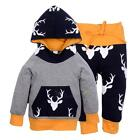 Christmas Toddler Baby Boys T-Shirt Tops Hoodie Pants Outfits 2Pcs Set Clothes