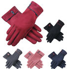 Womens Warm Velvet Gloves Suede Click Phone Touch Screen Gloves Winter 5 Colors