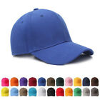 Men woman Plain Washed Cap Polo Style Cotton Baseball Adjustable Blank Solid Hat