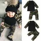 Newborn Toddler Infant Kids Baby Boy Clothes T-shirt Tops+Pants Outfits 2pcs Set