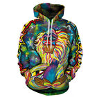 Unisex Creativity Graphic Abstract Painting Couples 3D Hoodie Pullover Tops