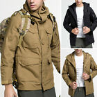 Winter Fashion Men's Casual Sports Climbing Hooded Military Jacket Outwear Brown