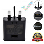 UK WALL PLUG ADAPTIVE FAST CHARGER WHITE & CABLE SAMSUNG S8 S7 S8+ EDGE S6 NOTE
