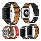 Genuine Leather Single Tour Eperon & Rallye Watch Band Strap for Apple Watch